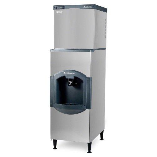 Scotsman C0322MA-HD22B-1H 356 lb 22 Air-Cooled Medium Cube Ice Machine w HD22B-1H Hotel Dispenser