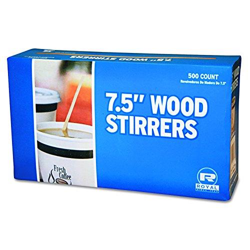 Royal R825 7-12 Inch Wood Coffee Stirrer 500-Pack