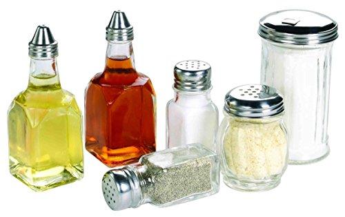 Deluxe 6pc Set 2 Oil  Vinegar Bottles Cheese Shaker Sugar Dispenser and Salt and Pepper Set