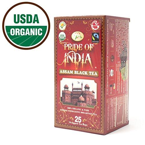 Pride Of India Organic Indian Assam Black Tea 25 Tea Bags