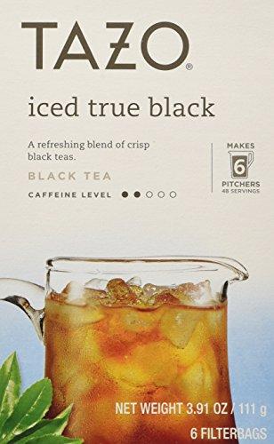 Tazo Iced True Black Filtered Tea - 6 Bags Per Box Pack of 4 391 oz
