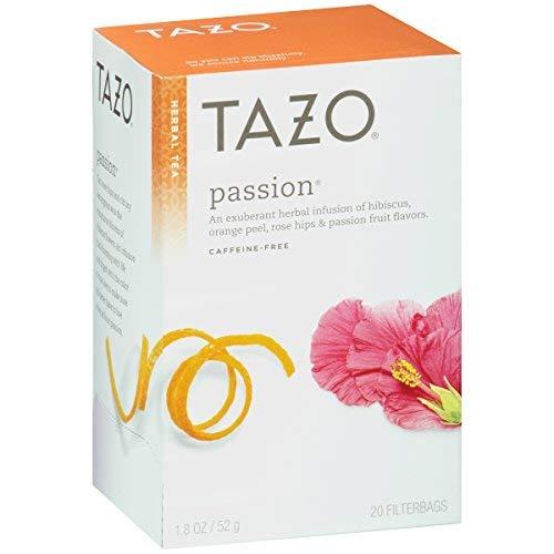 Tazo Tea Herbal Passion Tea 20 Tea Bags per Box Pack of 3 Boxes