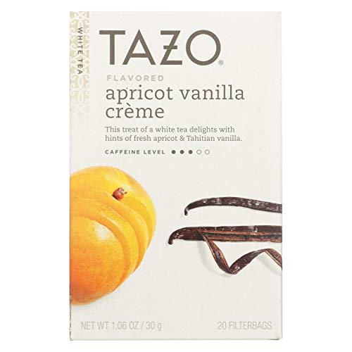 Tazo Vanilla Apricot White Tea 20-Count Tea Bags Pack of 6