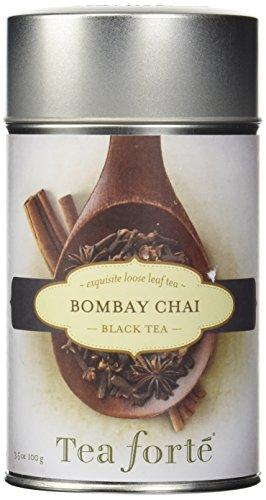 Tea Forte BOMBAY CHAI Loose Leaf Black Tea 35 Ounce Tea Tin