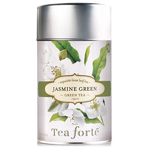 Tea Forte JASMINE GREEN Organic Loose Leaf Green Tea 35 Ounce Tea Tin