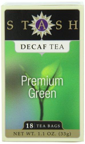 Stash Tea Decaf Premium Green Tea 18 Count Tea Bags in Foil Pack of 6