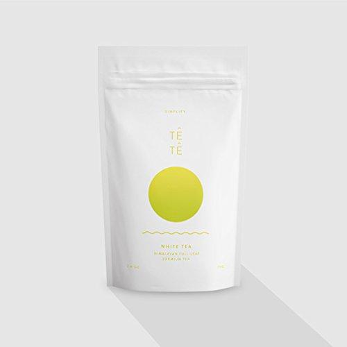 TETE WHITE Tea - Loose Leaf Full Leaf Himalayan Premium Tea 26 Oz