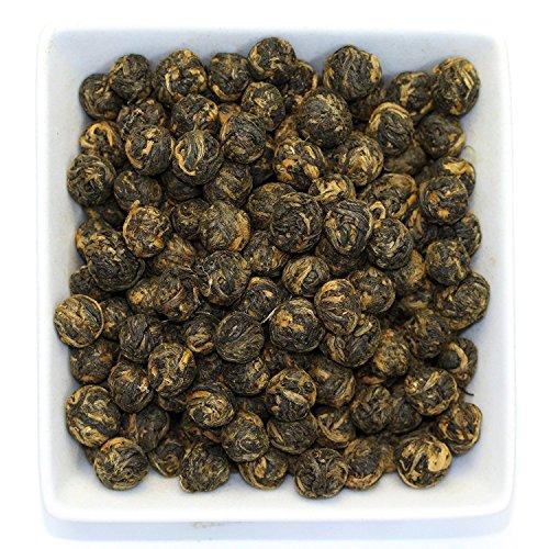 Tealyra - Black Dragon Pearls - Yunnan Special Black Tea - Loose Leaf Tea - Premium Tea - Bold Caffeine - Organically Grown - 110g 4-ounce