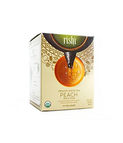 Rishi Peach Nectar Tea Organic White Tea Sachet Bags 15 Count