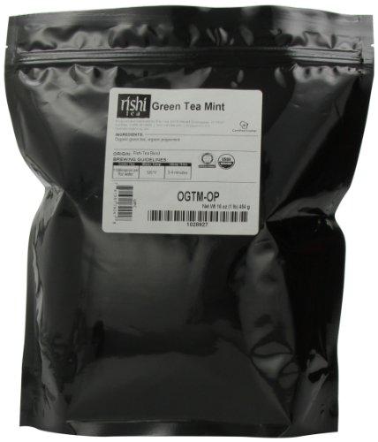 Rishi Tea Organic Green Tea Mint 1-Pound