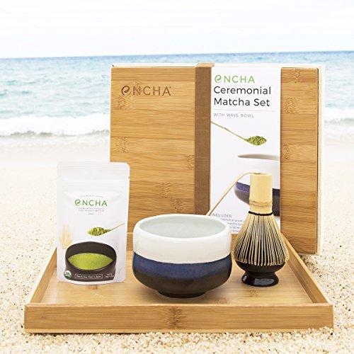 Encha Matcha Tea Ceremony Set with Wave Bowl