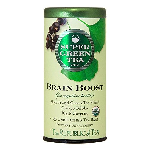 The Republic Of Tea Brain Boost Supergreen Tea 36 Tea Bags Ginkgo Biloba And Matcha Tea Blend
