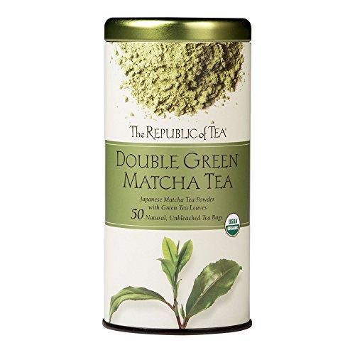 The Republic Of Tea Double Green Matcha 50 Tea Bags Gourmet Blend Of Organic Green Tea And Matcha Powder