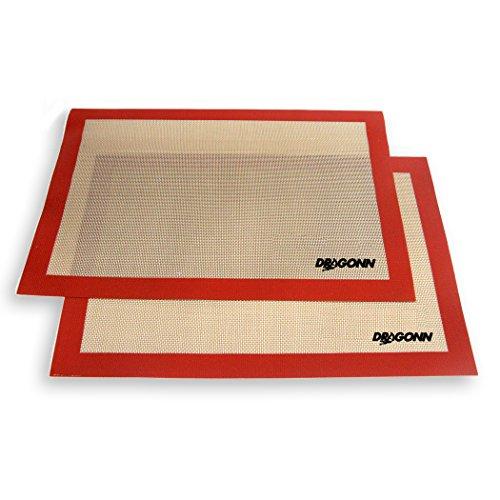 Dragonn® (2 Pk) Premium Non-stick Silicone Baking Mat Set, Half Sheet Size, 11-7/8-inch X 15-3/4-inch