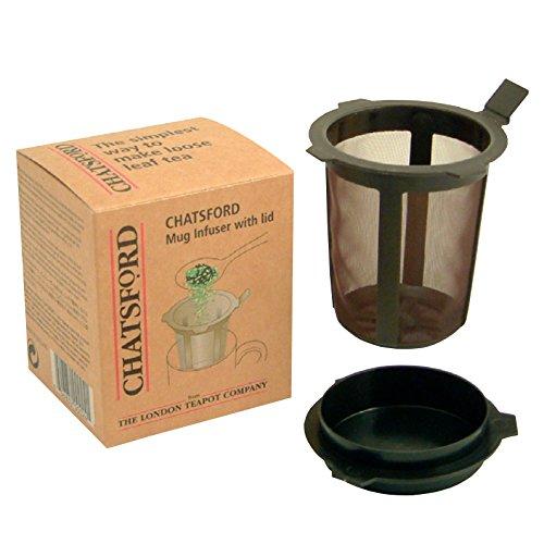 Chatsford brown mug infuser with lid