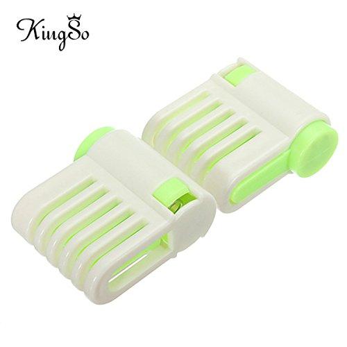 Kingso 2pcs Kitchen Diy Cake Bread Cutter Leveler Slicer Cutting Fixator Tool 5 Layers