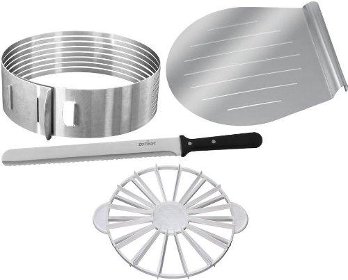 The Zenker And Dr. Oetker Baking Cake Kit: Cake Layer Slicer And Portion Divider