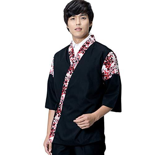XINFU Sushi Chef Uniform 34 Long Sleeve Hotel Japanese Restaurant Kitchen Chef Coat