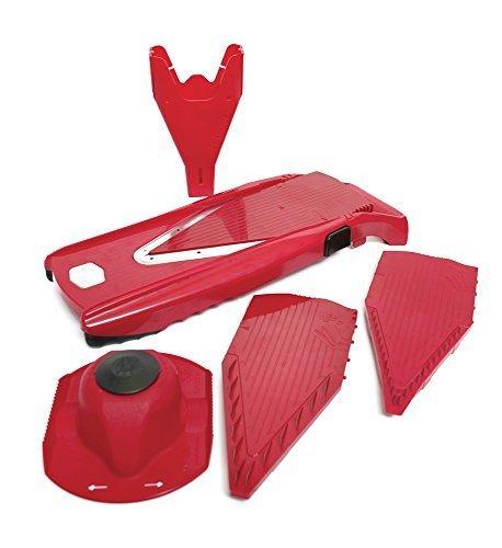 Swissmar Borner V Power Mandoline V-7000, Includes Free Cutting Glove Red