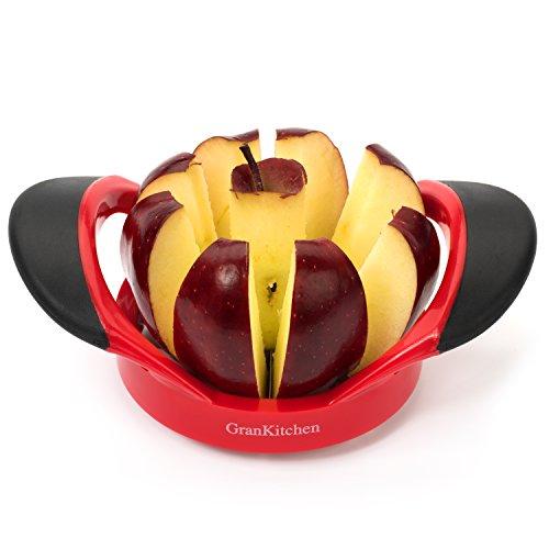 Grankitchen Apple Slicer - Corer, Cutter, And Divider - Red