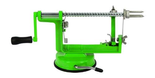 Green Apple Peeler Corer Slicer Makes Healthy Snacks For Kids, Spiral Slicer, Thin Fruit Slices To Dehydrate,