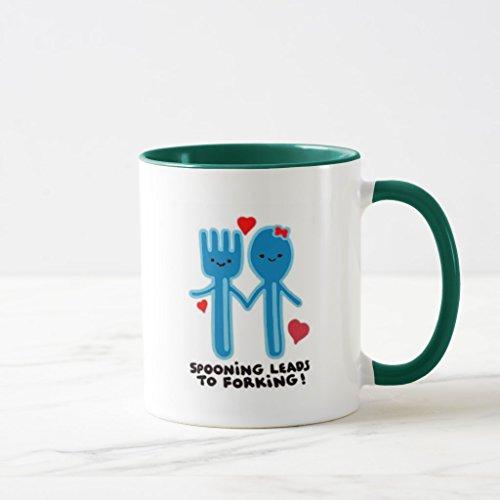 Zazzle Spooning Leads To Forking Coffee Mug Hunter Green Combo Mug 11 oz