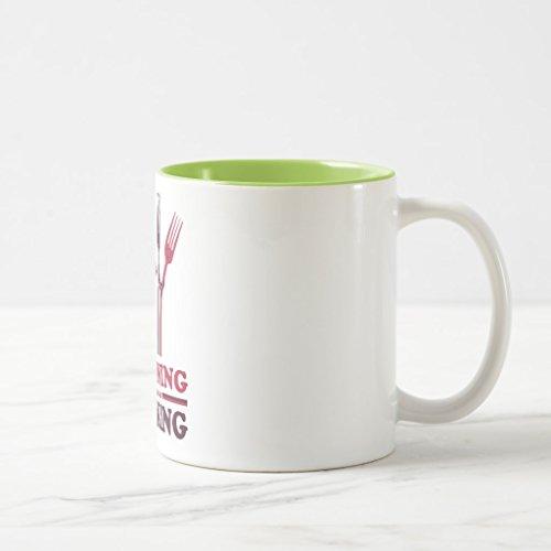 Zazzle Spooning Leads To Forking Love Romance Coffee Mug Lime Two-Tone Mug 11 oz