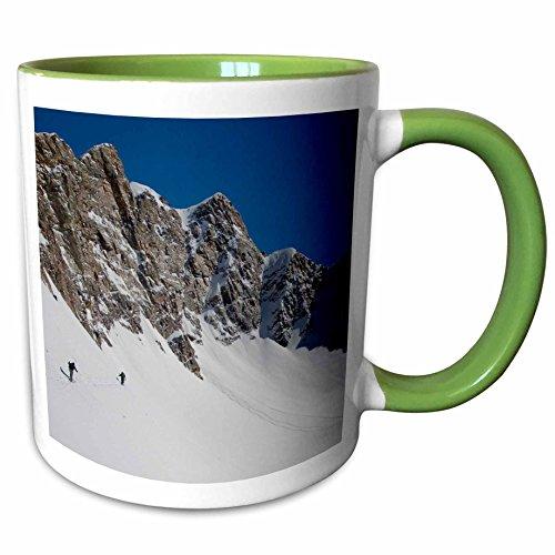 3dRose Danita Delimont - Skiing - Skiing Mill B South Fork Big Cottonwood Utah USA - US45 HGA0395 - Howie Garber - 11oz Two-Tone Green Mug mug_147290_7