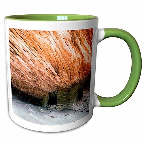 3dRose Danita Delimont - Utah - Utah Cedar Mesa South Fork Mule Canyon - US45 LNO0011 - Luc Novovitch - 11oz Two-Tone Green Mug mug_94821_7