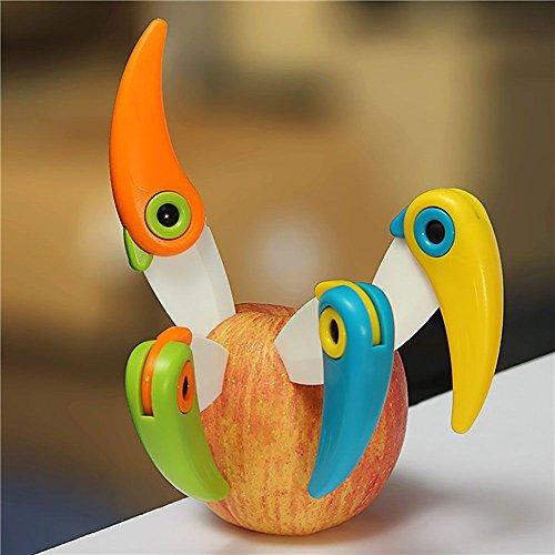 HuaYang Mini Bird Kitchen Fruit Ceramic Folding Pocket Knife Kitchen Cutlery ABS Handle