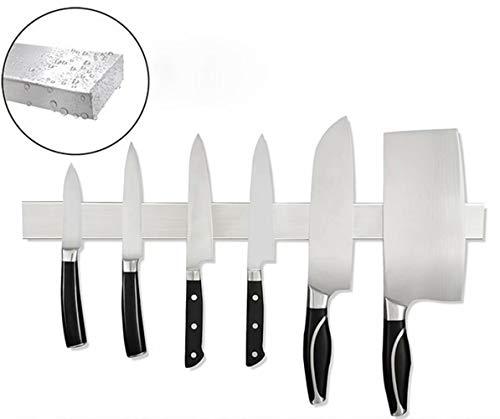 20 Inch Stainless Steel Magnetic Knife Bar with Multipurpose Use as Knife Holder Knife Rack Knife Strip Kitchen Utensil Holder Tool Holder Screw-free to install