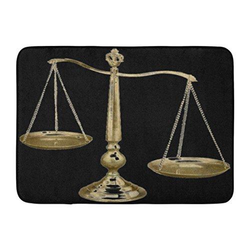 Ablitt Bath Mat Law Gold Scales Enforcement Lawyer School College Bathroom Decor Rug 16 x 24