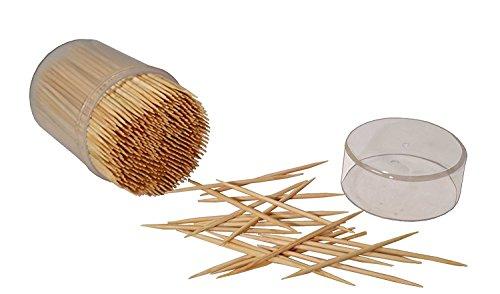 MontoPack Bamboo Wooden Toothpicks 2 X 500 1000pcs