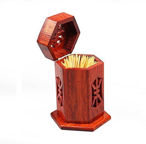 Astra shop Rosewood Wood Vintage Style Toothpicks Holder Swab Holder Crafts