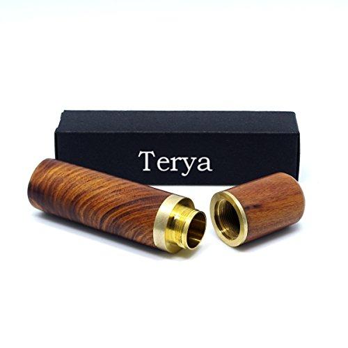 Terya Wood Toothpick holder Portable Toothpick Holder Dispenser Pocket Toothpick Holder Light brown