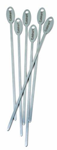 Cuisinart CSKS-166 Stainless Steel Skewers Set of 6  Metallic