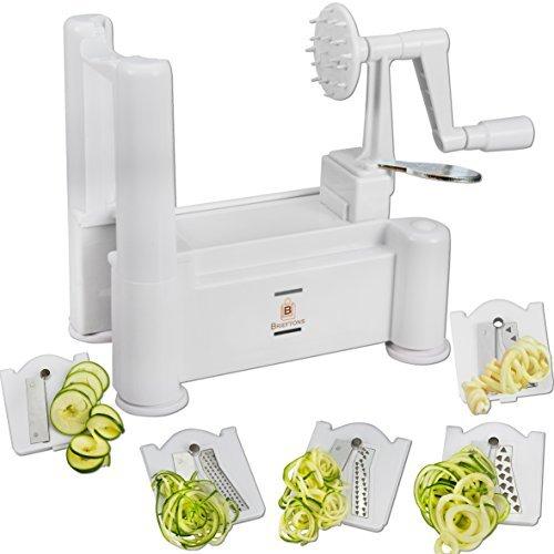 Brieftons 5-blade Spiralizer: Vegetable Spiral Slicer, Best Veggie Pasta Spaghetti Maker For Low Carb/paleo/gluten-free
