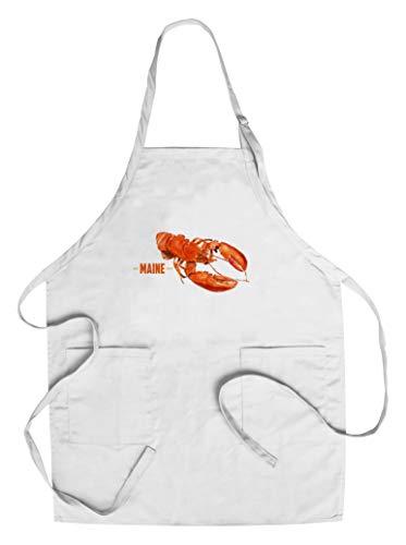 Maine - Lobster - Watercolor - Contour 105071 CottonPolyester Chefs Apron