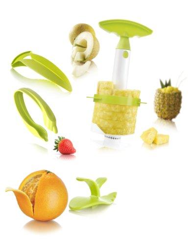 Vacu Vin Fruit Preparation Set (including 4-in-1 Pineapple Peeler, Corer, Slicer And Wedger)