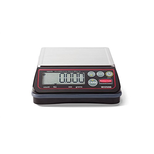 Rubbermaid Commercial Products 1812590 Full-size Digital Scale For Foodservice Portion Control, 2 Lb