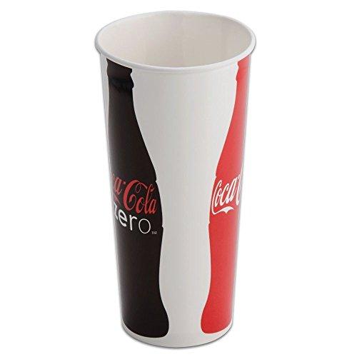 Movie Theater Coke Drink Cups wLids Straws 22oz - 50ct