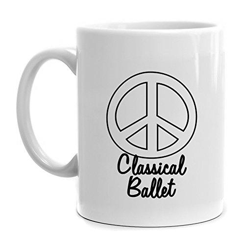 Eddany Peace symbol Classical Ballet Mug