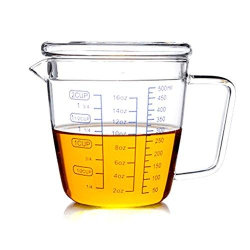 Moyishi Beaker Mug 16oz Borosilicate Glass Coffee Milk Tea Mug Best Gift