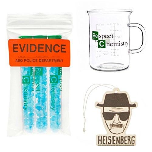 Walter White 3 Pack Beaker Mug Blue Sky Candy Heisenberg Air Freshener