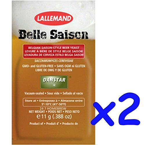 2x Danstar BELLE SAISON Belgium Beer Yeast 11g Fast Fermenting