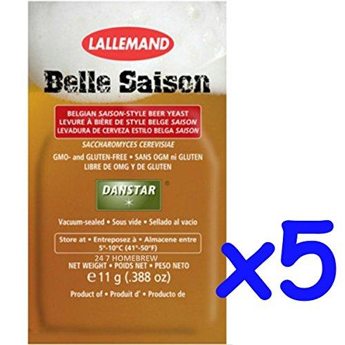 5x Danstar BELLE SAISON Belgium Beer Yeast 11g Fast Fermenting