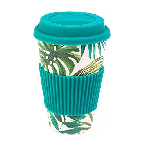 CAMBRIDGE CM05918 Bamboo Polynesia Reusable Coffee Cup Travel Mug