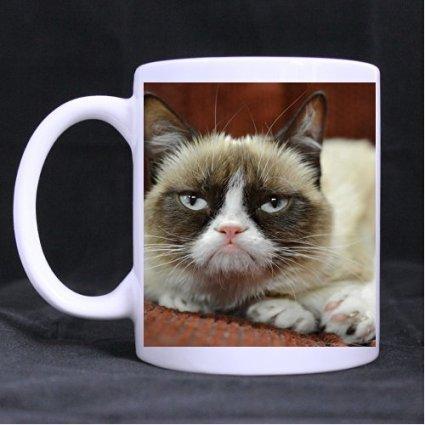 Custom White Mug Coffee Cup Grumpy Cat 11 Oz White For Gifts