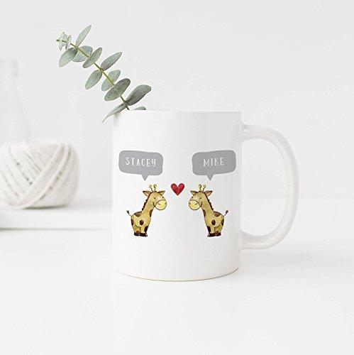 Giraffe Mug Giraffe Coffee Mug Animal Mug Custom Name Mug Custom Coffee Cup Christmas Gifts for Him 11oz 15oz gift