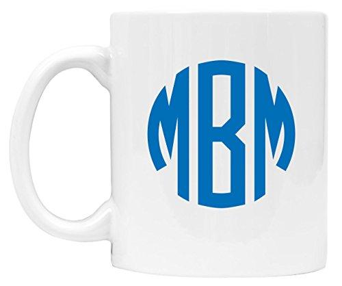 Personalized Monogram Coffee Mug Custom Coffee Cups Monogrammed - DSM07